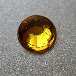 100 St. Selbstklebende Schmucksteine - Runde 6 mm (gold)