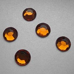 176 St. Selbstklebende Schmucksteine - Runde 2 mm (orange)