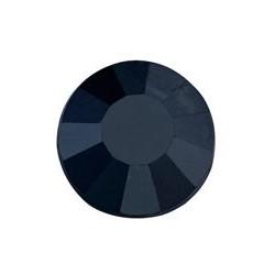 100 St. Selbstklebende Schmucksteine - Runde 6 mm (schwarz)