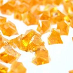 190 St. Kristall Acryl Eiswürfel, groß 2,3 x 1,8 cm (orange)