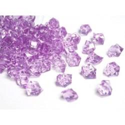 780 St. Kristall Acryl Eiswürfel, klein 1,4 x 1,1 cm (lila)