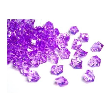 780 St. Kristall Acryl Eiswürfel, klein 1,4 x 1,1 cm (dunkelviolett)