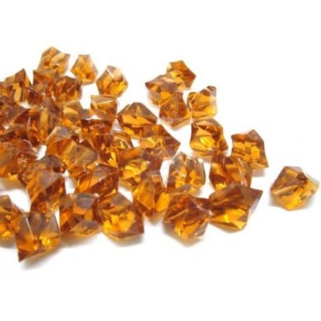 190 St. Kristall Acryl Eiswürfel, groß 2,3 x 1,8 cm (bernsteinfarbe)