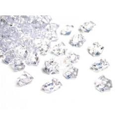 190 St. Kristall Acryl Eiswürfel, groß 2,3 x 1,8 cm (kristall farbe)