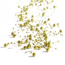 5 St. Perlengirlande 1,35 m (gold) Tischdeko für Hochzeiten