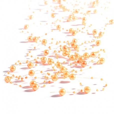 5 St. Perlengirlande 1,35 m (orange) Tischdeko für Hochzeiten