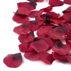 100 St. Rosenblätter (dunkelrot) Blütenblätter für Hochzeit