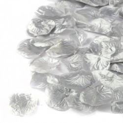 100 St. Rosenblätter (silber) Blütenblätter für Hochzeit