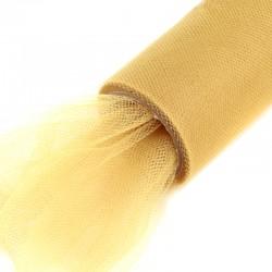 1 St. Tüll Rolle 16 cm x 9,1m, Tüll Stoff (helles gold)