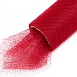 1 St. Tüll Rolle 40 cm x 9,1m, Tüll Stoff (rot)