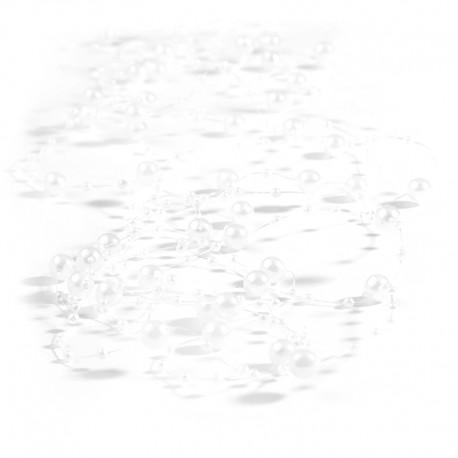 5 St. Perlengirlande 1,35 m (weiß) Tischdeko für Hochzeiten