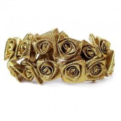 12 St. Satinrosen (gold) Tischdeko Dekoration