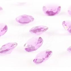 100 St. Diamanten Konfetti 12 mm, Tisch Kristalle (hellrosa)