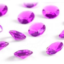 100 St. Diamanten Konfetti 12 mm, Tisch Kristalle (dunkelrosa)