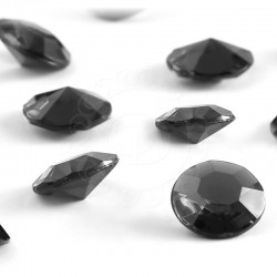 100 St. Diamanten Konfetti 12 mm, Tisch Kristalle (schwarz)