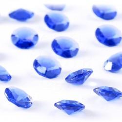 100 St. Diamanten Konfetti 12 mm, Tisch Kristalle (blau)