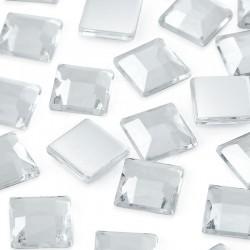 500 St. Schmucksteine aus Acryl, Quadrate 16 x 16 mm (kristall farbe)