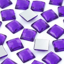 1000 St. Schmucksteine aus Acryl, Quadrate 10 x 10 mm (violett)