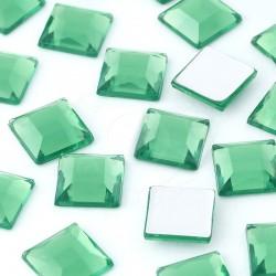 1000 St. Schmucksteine aus Acryl, Quadrate 10 x 10 mm (grün)