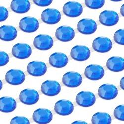 918 St. Selbstklebende Schmucksteine, (verbunden) 3 mm (blau)