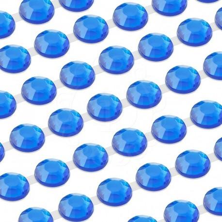 750 St. Selbstklebende Schmucksteine, (verbunden) 4 mm (blau)