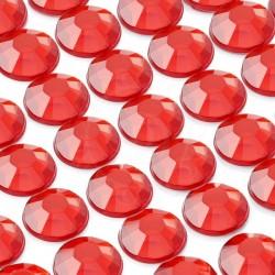 260 St. Selbstklebende Schmucksteine, (nicht verbunden) 8 mm (rot)