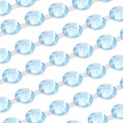 750 St. Selbstklebende Schmucksteine, (verbunden) 4 mm (himmelblau)