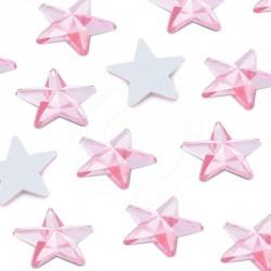 2000 St. Schmucksteine aus Acryl, Stern 14 mm (rosa)