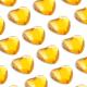 50 St. Selbstklebende Schmucksteine - Herz 10 mm (gold)