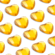 176 St. Selbstklebende Schmucksteine - Herz 3,2 mm (gold)