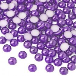 2000 St. Halbeperlen Rund 10 mm (violett)