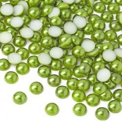 10000 St. Halbeperlen Rund 3 mm (grün)