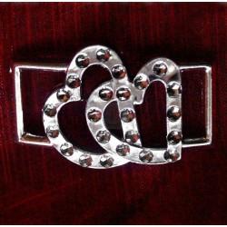 500 St. Dekorative Schnalle (silber) BUC11.11