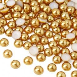 2000 St. Halbeperlen Rund 8 mm (gold)