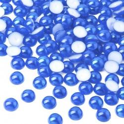2000 St. Halbeperlen Rund 10 mm (blau)