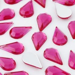 5000 St. Schmucksteine aus Acryl, Tropfen 6 x 10 mm (rosa)