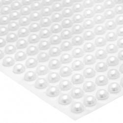Pół perły samoprzylepne 6mm (połączone) 300 szt (BIAŁE)