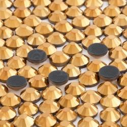 288 St. Strasssteine ss30 hot-fix (6,5 mm) Gold