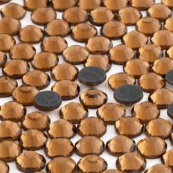 288 St. Strasssteine ss30 hot-fix (6,5 mm) Dunkel bernstein