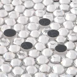 288 St. Strasssteine ss30 hot-fix (6,5 mm) Kristall Farbe