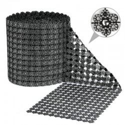 1 St. Strassband 11,5cm x 9m (Silber-schwarz)