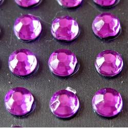 176 St. Selbstklebende Schmucksteine - Runde 4 mm (violett)
