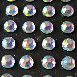 176 St. Selbstklebende Schmucksteine - Runde 3 mm (opal)