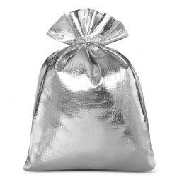 10 st. Metallic säckchen 15 cm x 20 cm (silber)