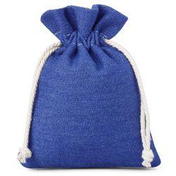 3 st. Jeans Beutel 12 cm x 15 cm (blau)