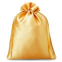 3 st. Satinsäckchen 26 cm x 35 cm (gold)