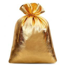 5 st. Metallic säckchen 22 cm x 30 cm (gold)
