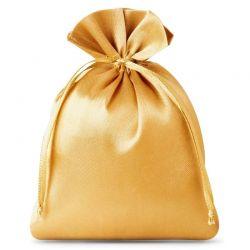 10 st. Satinsäckchen 10 cm x 13 cm (gold)