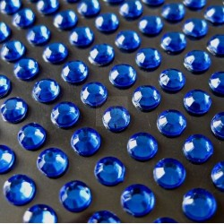 176 St. Selbstklebende Schmucksteine - Runde 3 mm (blau)
