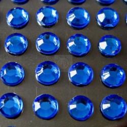176 St. Selbstklebende Schmucksteine - Runde 4 mm (blau)